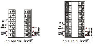 SF603/604/605/606/607智能温控制仪XMT-SF501/502/503SD接线端子